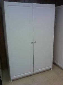 White 6 Foot Tall Wardrobe Storage Closet with Shelves Local Pickup Only