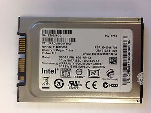 "Intel 160GB SSD 1 8"" SATA Laptop Desktop Solid State Hard Drive SSDSA1MH160G1HP"