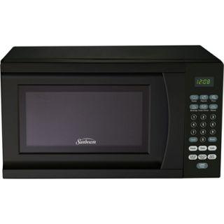 Compact Countertop Microwave Oven Retro Style Mini Small Kitchen ...