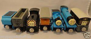 RARE Thomas Train Flat Magnets Wooden Staples 1992 Lot of 7 Mavis Henrietta Ertl