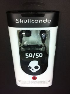R33 Skullcandy 50 50 in Ear Buds Stereo Headphones w Mic Control Headset Black