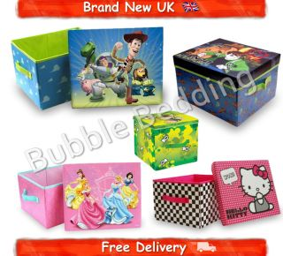 Cartoon Character Kids Storage Toy Box Bedroom Tidy New