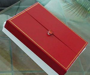 Large Red Leatherette Combination Multi Use Jewelry Set Storage Gift Box
