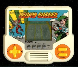 1990s Heavy Barrel Tiger Electronic Handheld Pocket Arcade Video Game