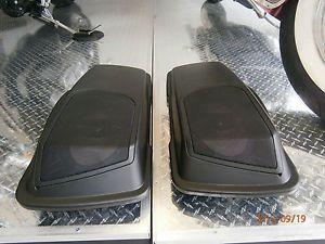 """Hogtunes 6x9"""" Complete Saddlebag Lid Speaker Kit Harley Davidson Touring 98 13"""