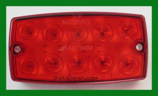 LED Stop Turn Tail Light Surface Mount Hot Rod Red