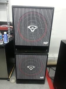"Two Cerwin Vega CVA 118 18"" Active Subwoofers"