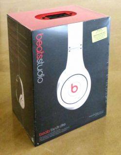 100 Genuine Beats Studio Headphones by Dr Dre Monster Noise Cancelling White
