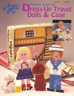 Dress Up Travel Dolls Case Annie's Plastic Canvas Patterns New RARE