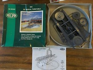 Vintage Heljan HO Train 98' Manual Turntable 804 HO Scale Unused