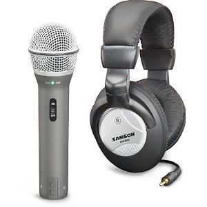 Samson Q2U Recording Pack Studio USB XLR Microphone HP20 Headphones Bundle Pak