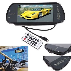 """7"""" TFT LCD Color Car Rearview Monitor w SD USB MP5 FM"""
