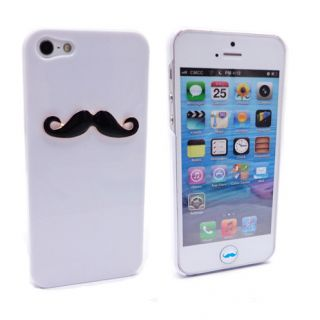 1 Sexy Chaplin 3D Mustache Case Cover for iPhone 5 5g 6pcs Beard Home Button