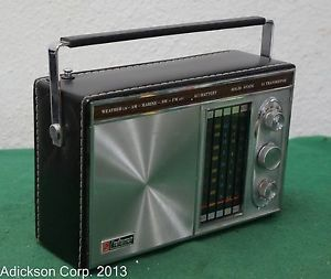 Vintage Craftsman 5 Band Solid State Portable Radio Short Wave Model 1950