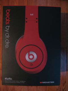 Beats by Dr Dre Beats Studio Headband Headphones Red 050644603419