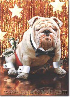 Bulldog Stripper Funny Birthday Card Greeting Card by Avanti Press
