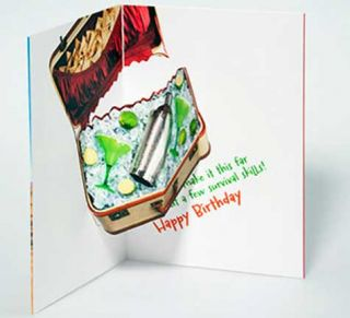 Traveling Owl with Sombrero Pop Up Birthday Card Greeting Card by Avanti Press