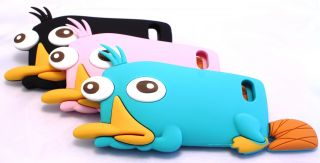 Phineas and Ferb Perry The Platypus Silicone 3D Animal Case Cover iPhone 4 4S 5