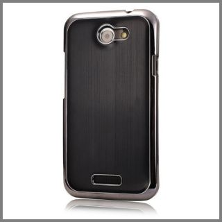 FÜR HTC One s Luxus Top Bumper Edition Aluminium Alu Metall Case Hülle Schwarz