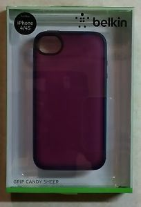 Belkin Grip Candy iPhone 4 4S Purple Turquoise Case Brand New
