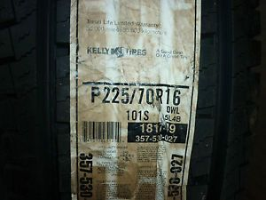 2 New 225 70 16 Kelly Safari Signature Tires