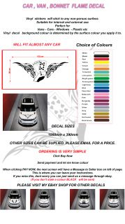 Car Van Bonnet Flame Decal Vinyl Sticker KIT7