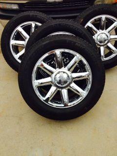 "Chevrolet GMC Yukon Denali 20"" Chrome Wheels w Michelin Tires 275 55 20"