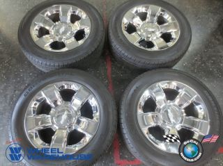 2014 Chevy Tahoe Factory Chrome 20 Wheels Tires Rims Suburban Silverado