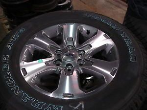 """4 18"""" Ford F 150 Alloy Wheels Rims with Goodyear Tires 3832"""