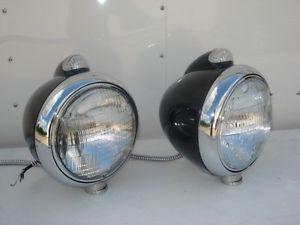 Guide Style Headlights w Turn Signal Street Rat Hot Rod 1928 29 30 31 32 Chevy
