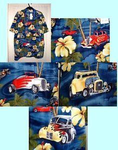 Jungle Hot Rods Hawaiian Shirt Choice of Size