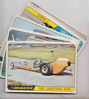 Topps Hot Rods Gem Mint Part Set of 57 of 66 Cards