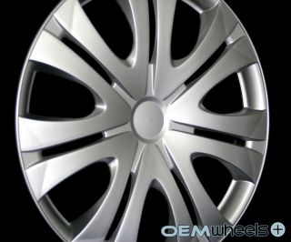 """4 New Silver 16"""" Hub Caps Fits Volkswagen VW Car ABS Center Wheel Covers Set"""