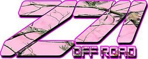 Set of Z71 4x4 Realtree Camo Pink Outline Truck Decals