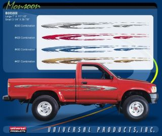 Monsoon Vinyl Graphic Decals Stripes Universal Fit Ford Dodge Toyota Chevy Truck