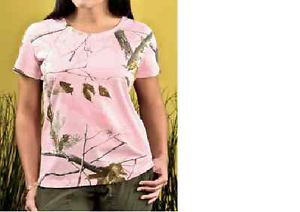 Code V Ladies Pink Realtree Camo Tshirt New Design