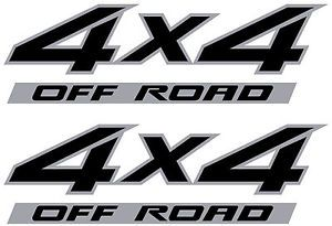 Nissan Titan 4x4 Off Road Decal Sticker Vinyl Truck Decals Silver Black Set of 2