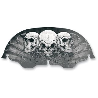 Drag Specialties 8 in Skull Skullz Windscreen 55101042 for Harley Davidson