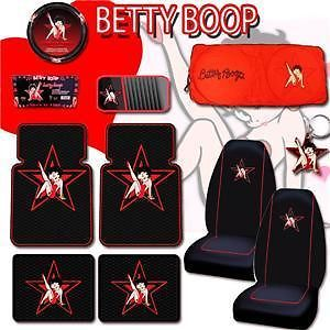 Betty Boop Car Mats Steering Wheel Seat Covers Sunshade