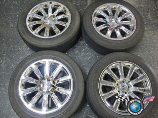 05 12 Chrysler 300 300C Factory Chrome Clad 18 Wheels Tires Rim 2418 Charger