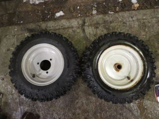 Set of 2 4 80 x 8 Traction Snow Tires for Snow Blower Gravely Troy Bilt