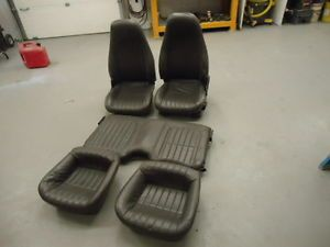 97 02 Gray Leather Camaro Seats Front Rear Trans Am Firebird 97 99 Color Z28 1