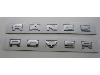 Range Rover Chrome Letters New Emblems Badge Sport HSE Hood Trunk Rear