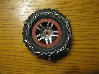 RC Traxxas Slash Tire Chains for Snow and Ice 2WD 4x4 4 Chains