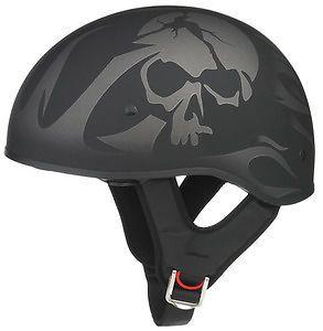 GMAX 55 Half Helmet Skull 1 2 Matte Finish Cruiser Harley Davidson 2XL