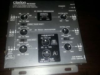 Clarion MCD360 Electronic Crossover 3 Way 6 CH w O Remote 729218007075