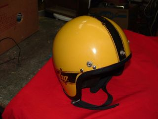 Old Vintage Snowmobile Safety Helmet Ski Doo Winter Snow Outdoor Sport Protectio