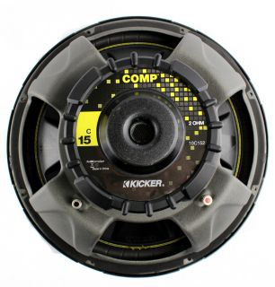 "2 Kicker C154 Comp 15"" 1000 Watt 2 Ohm Car Subwoofers Combo Amplifier Amp Kit 713034050209"
