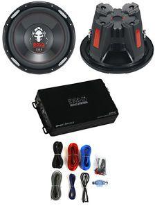"""2 Boss Audio P156DVC 15"""" 5000W Car Subwoofers Woofers Subs Amplifier Amp Kit"""