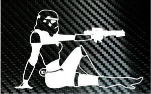 Star Wars Storm Trooper Mud Flap Girl Sexy Car Truck Laptop Decal Vinyl Sticker
